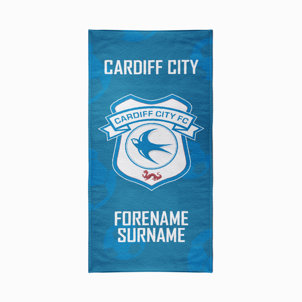 Cardiff City FC Crest Design Towel - 80cm x 160cm