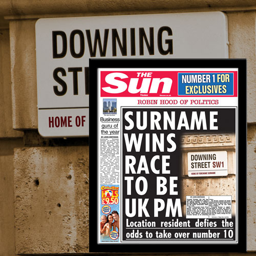 The Sun Prime Minister News Single Page Print - Male