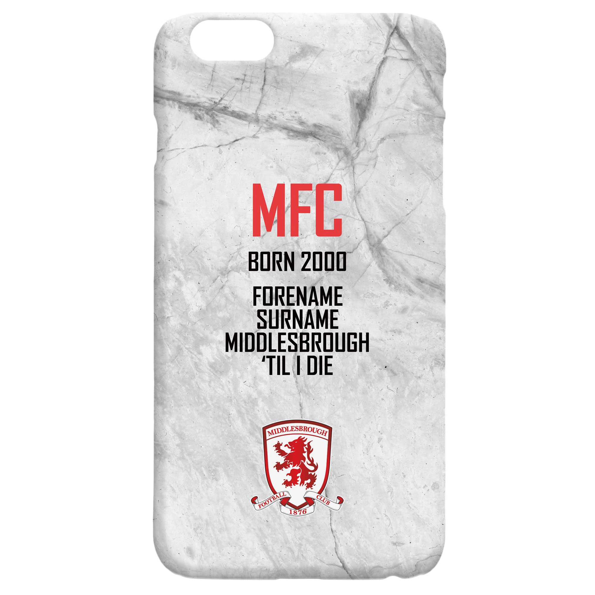 Middlesbrough FC 'Til I Die Hard Back Phone Case