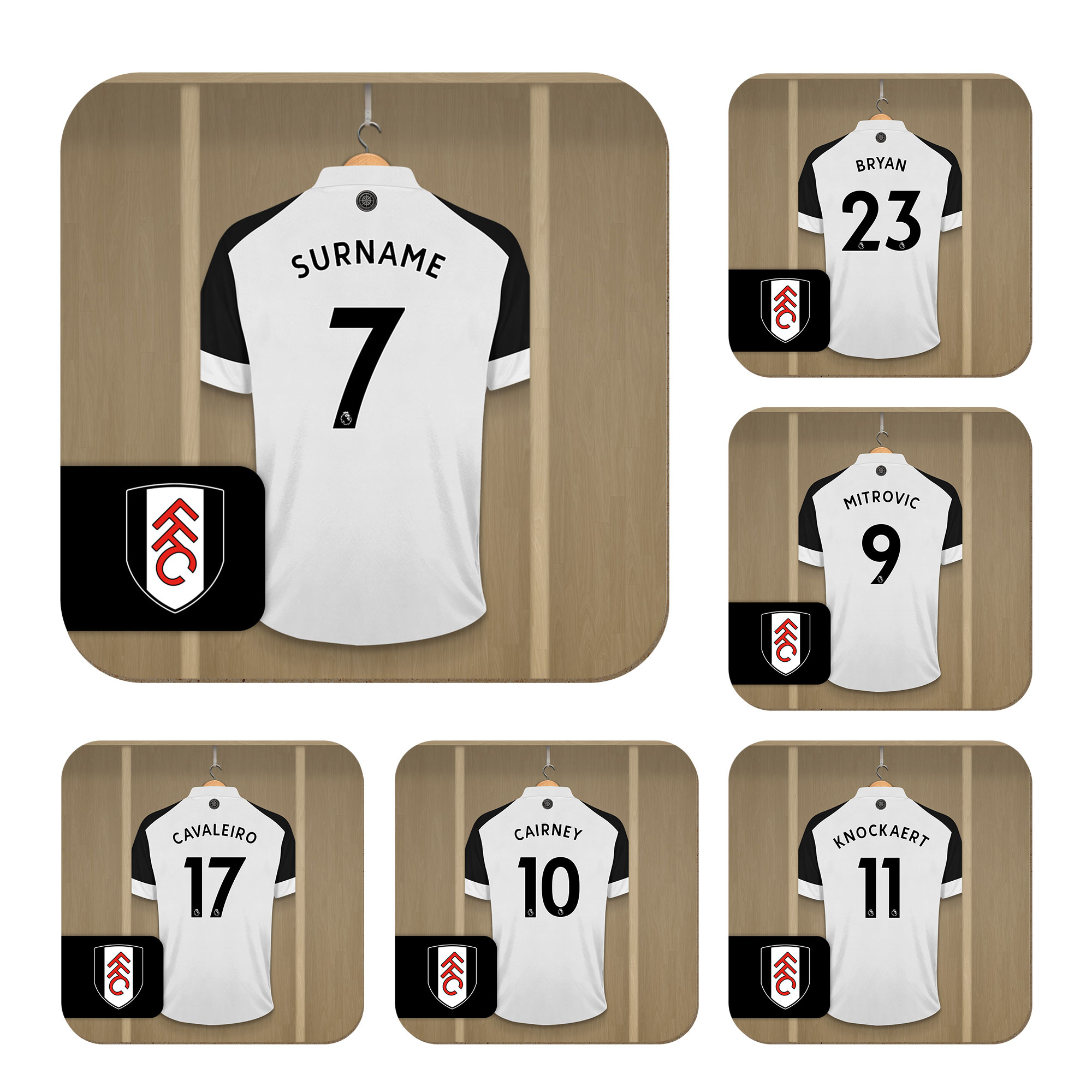 Fulham FC Dressing Room Coasters