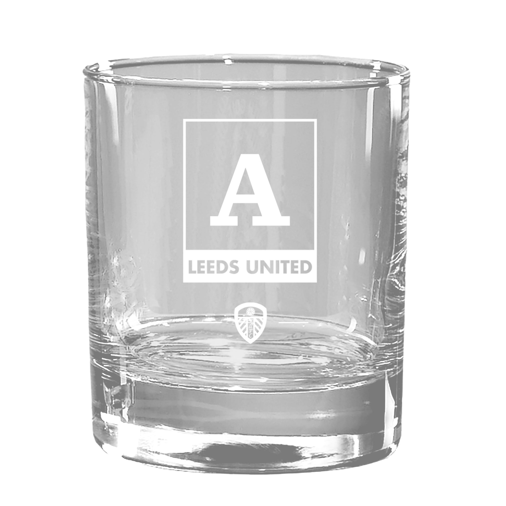 Leeds United FC Monogram Old Fashioned Whisky Tumbler