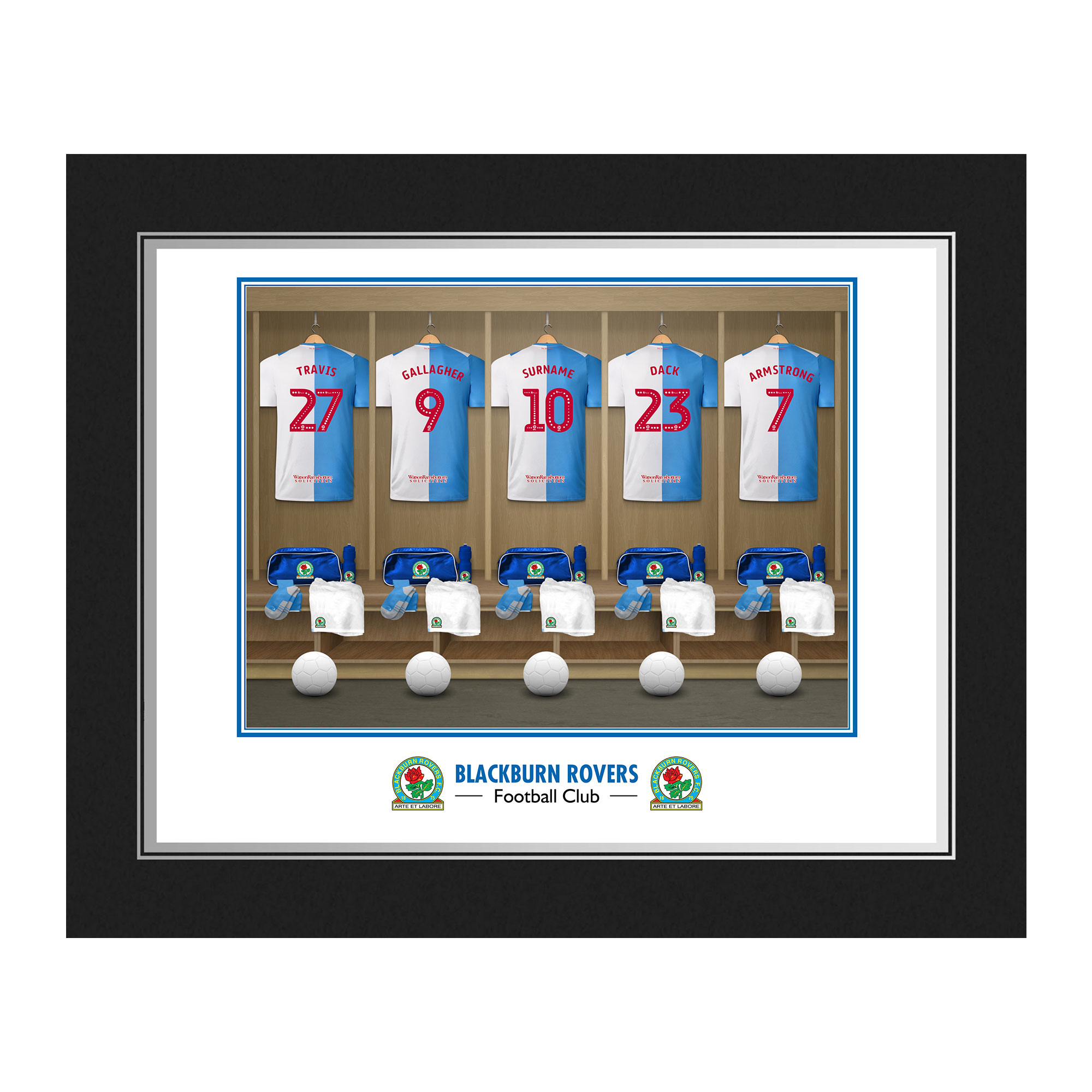 Blackburn Rovers FC Dressing Room Photo Folder