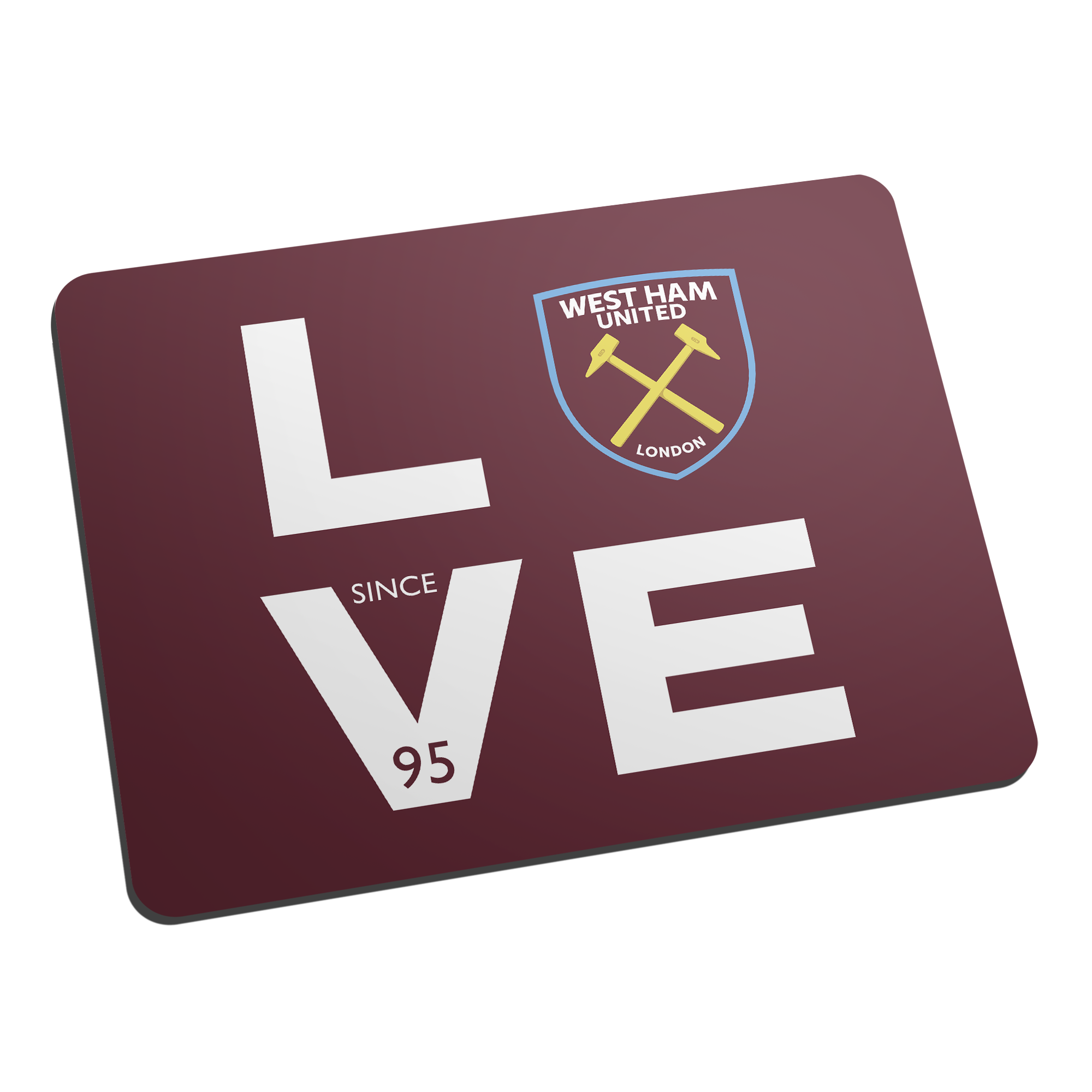 West Ham United FC Love Mouse Mat