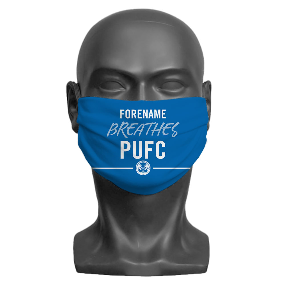 Peterborough United FC Breathes Adult Face Mask (Large)