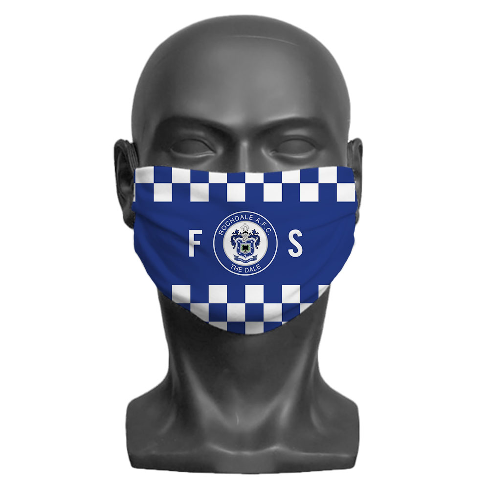 Rochdale AFC Initials Adult Face Mask (Large)