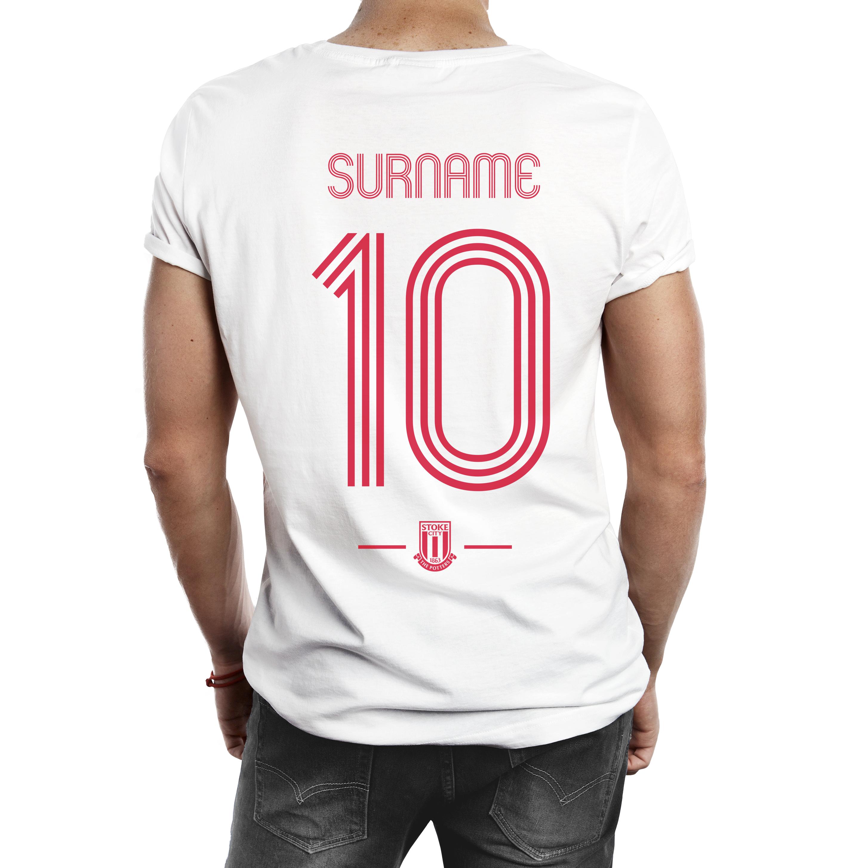 Stoke City FC Retro Shirt Mens T-Shirt