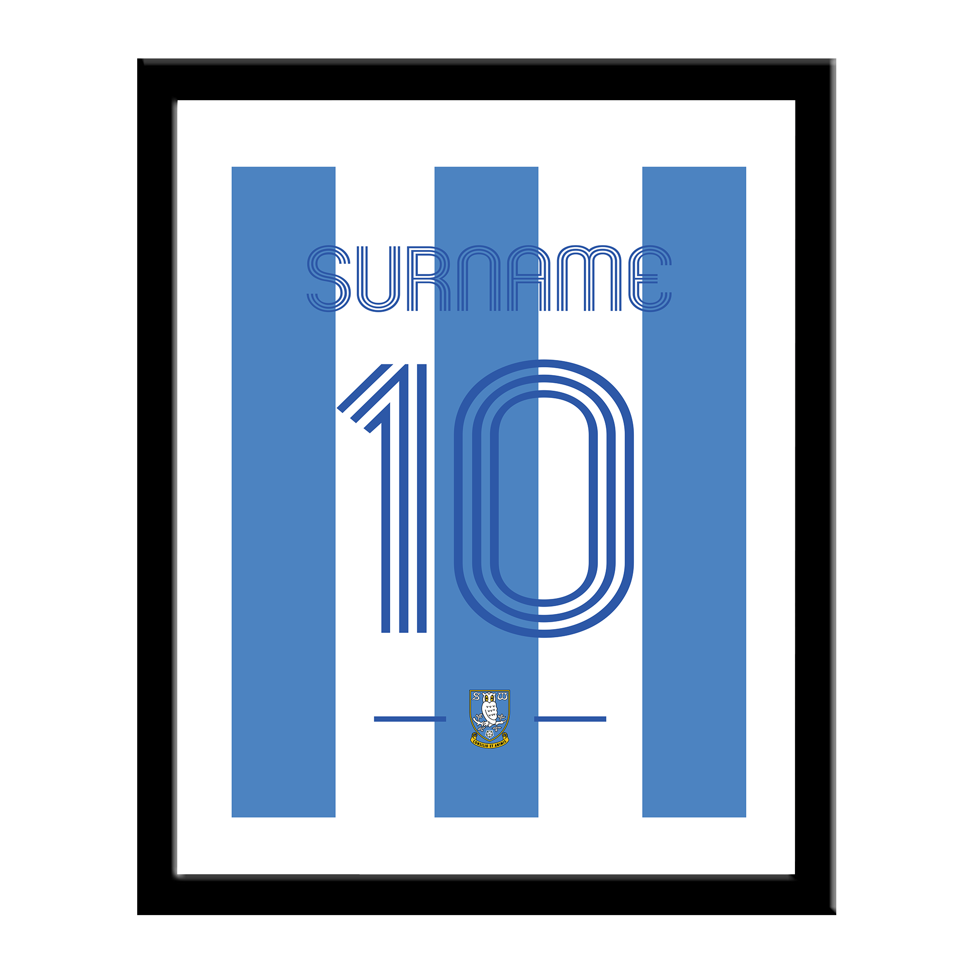 Sheffield Wednesday Retro Shirt Print
