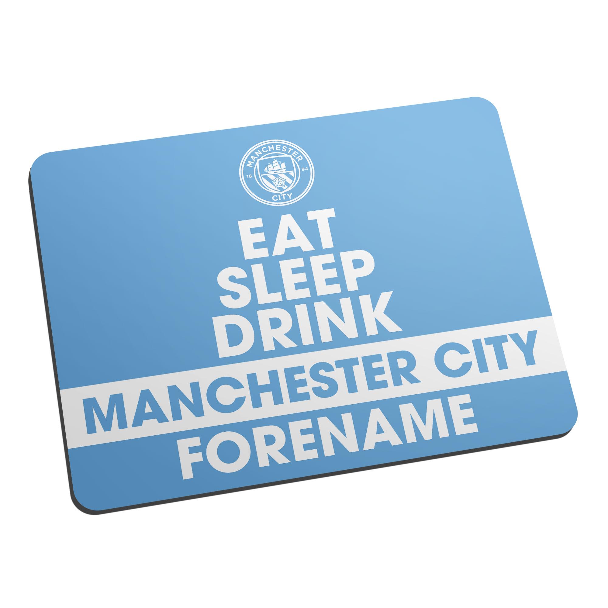Manchester City FC Eat Sleep Drink Mouse Mat