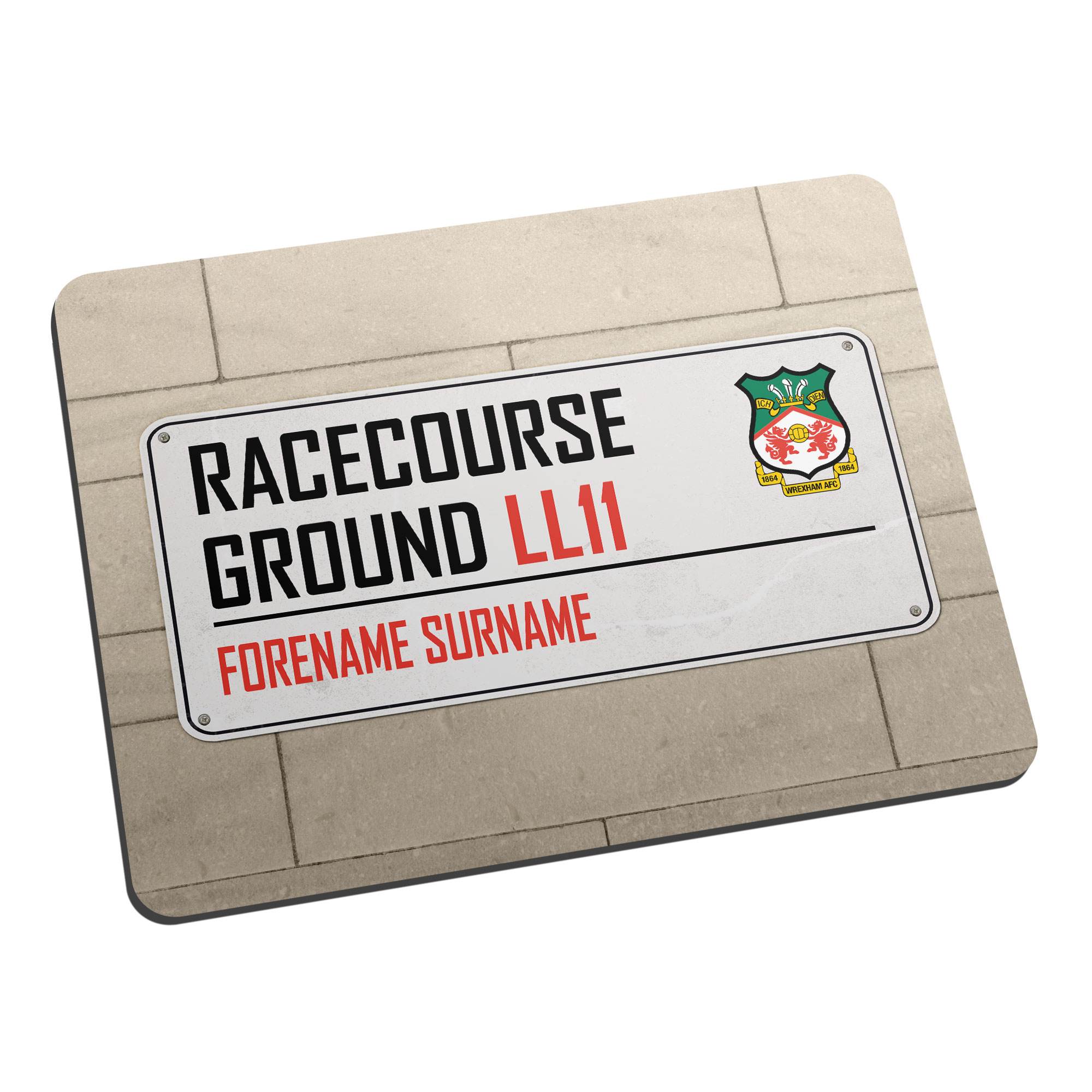 Wrexham AFC Street Sign Mouse Mat