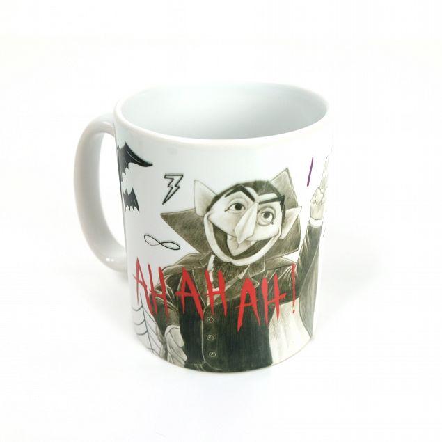 Count Von Count Personalised Mug - Sketch