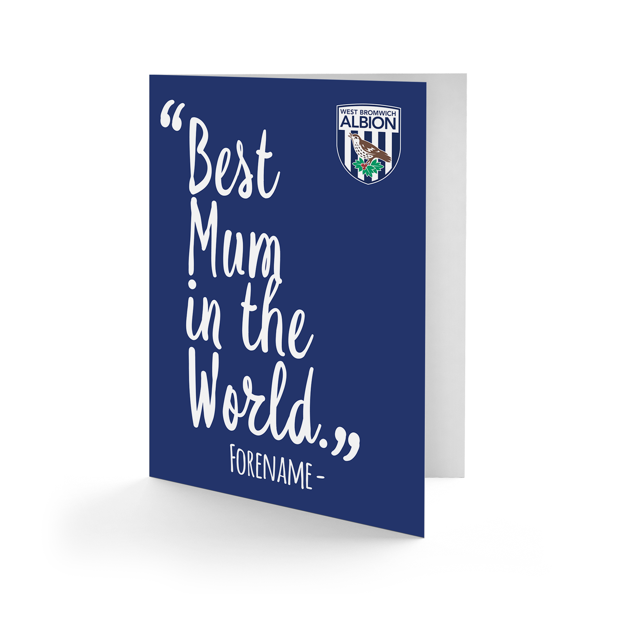 West Bromwich Albion FC Best Mum In The World Card