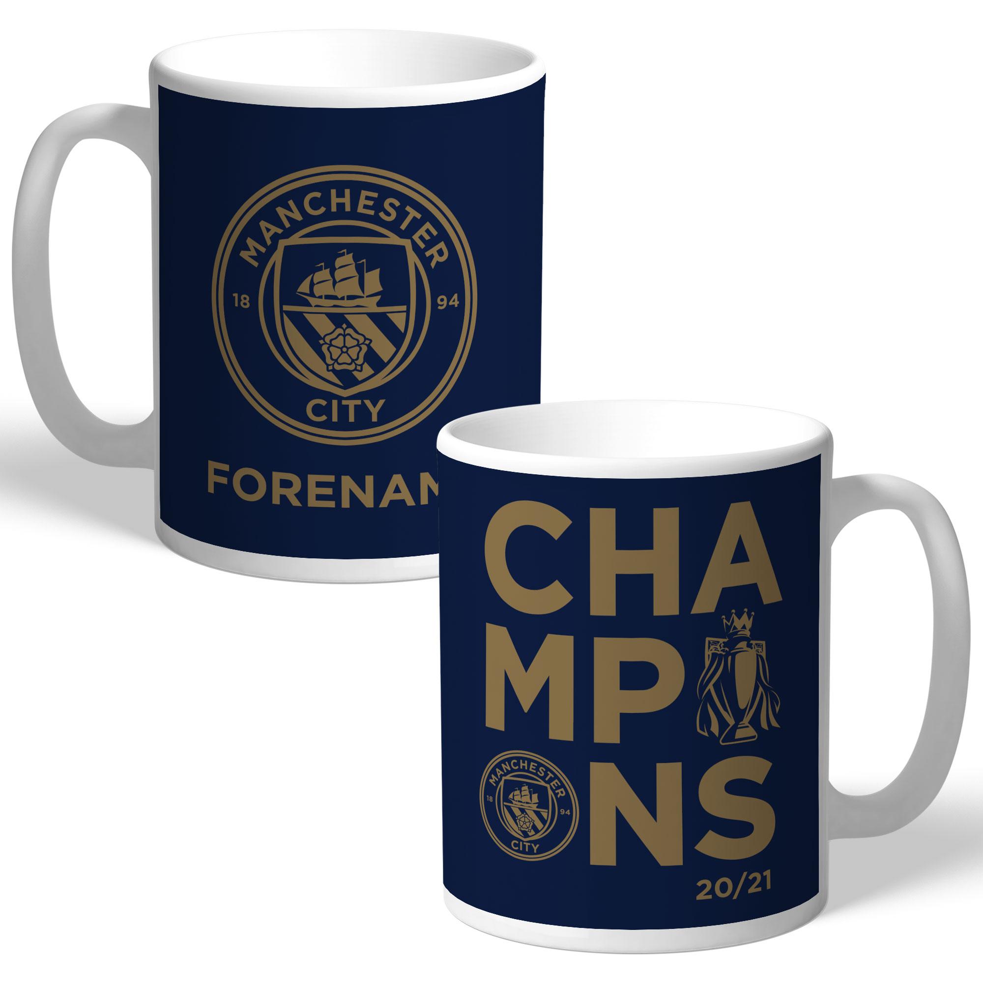 Manchester City FC Premier League Champions 2021 Mug