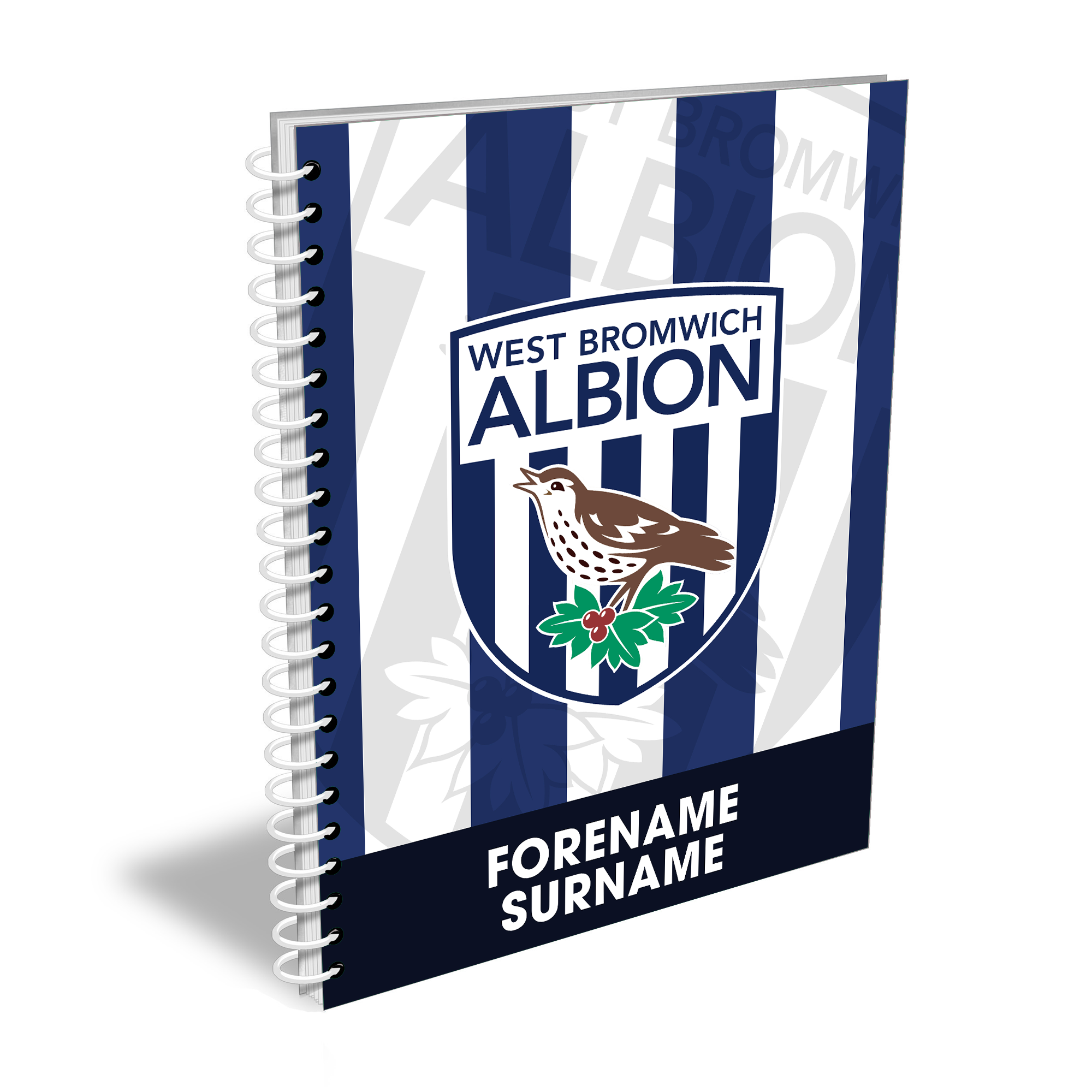 West Bromwich Albion FC Bold Crest Notebook