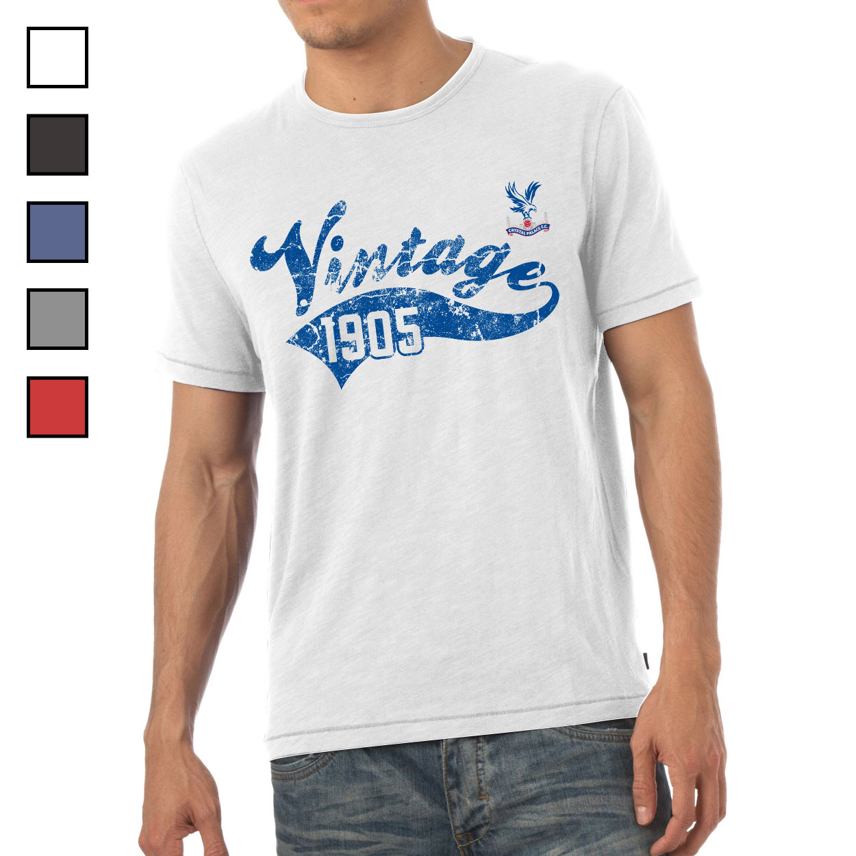 Crystal Palace FC Mens Vintage T-Shirt
