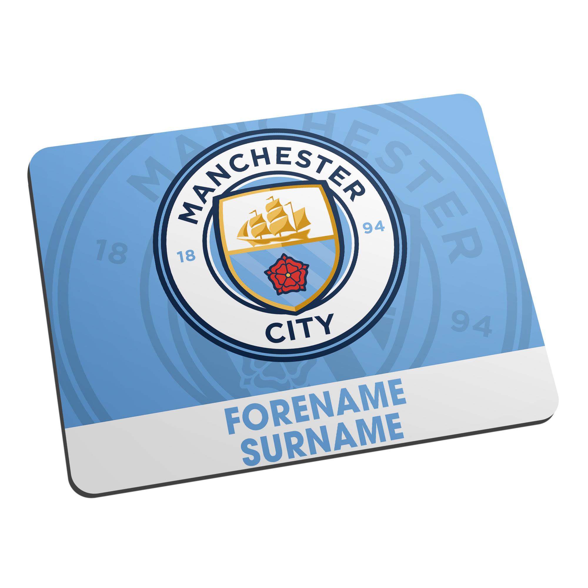 Manchester City FC Bold Crest Mouse Mat