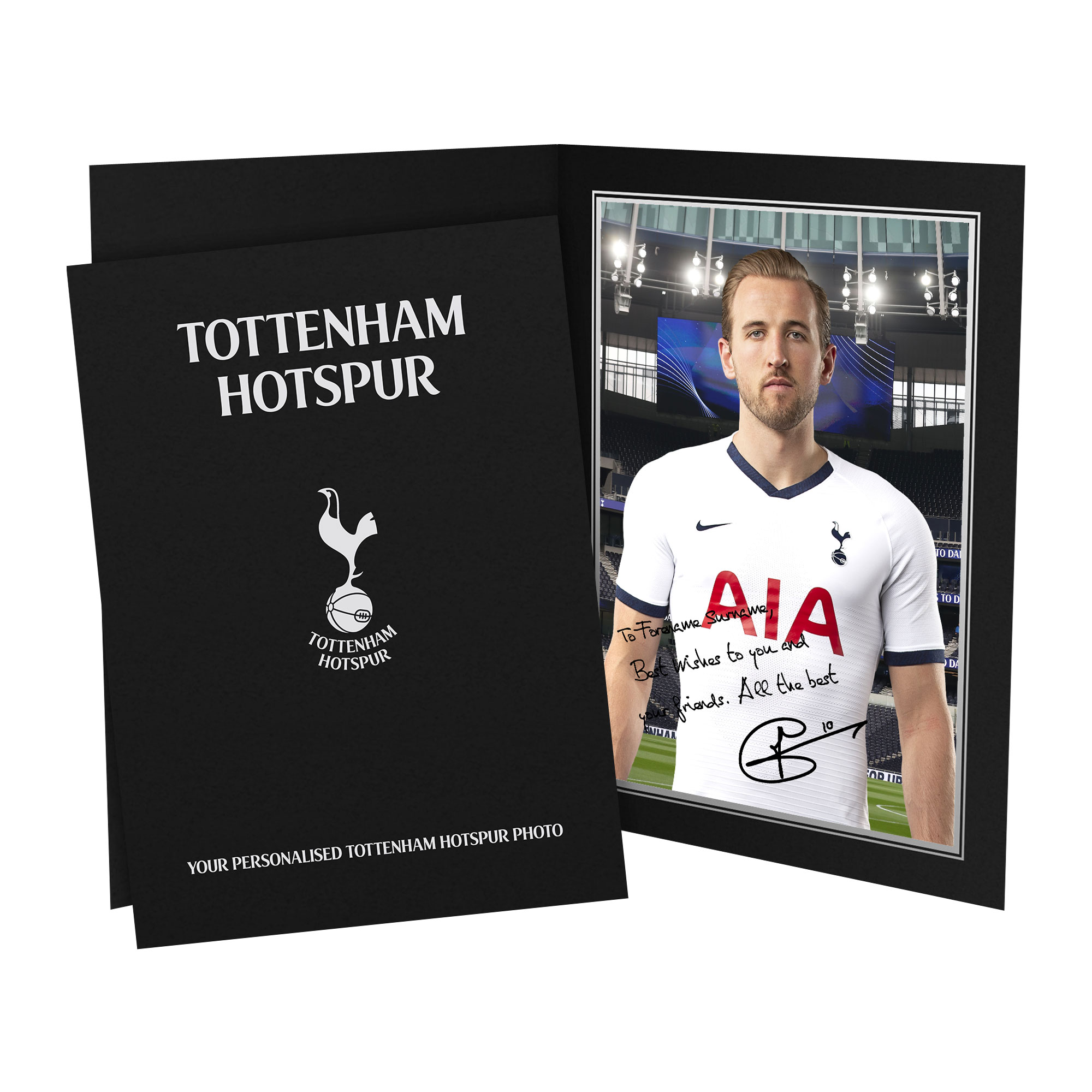 Tottenham Hotspur Kane Autograph Photo Folder
