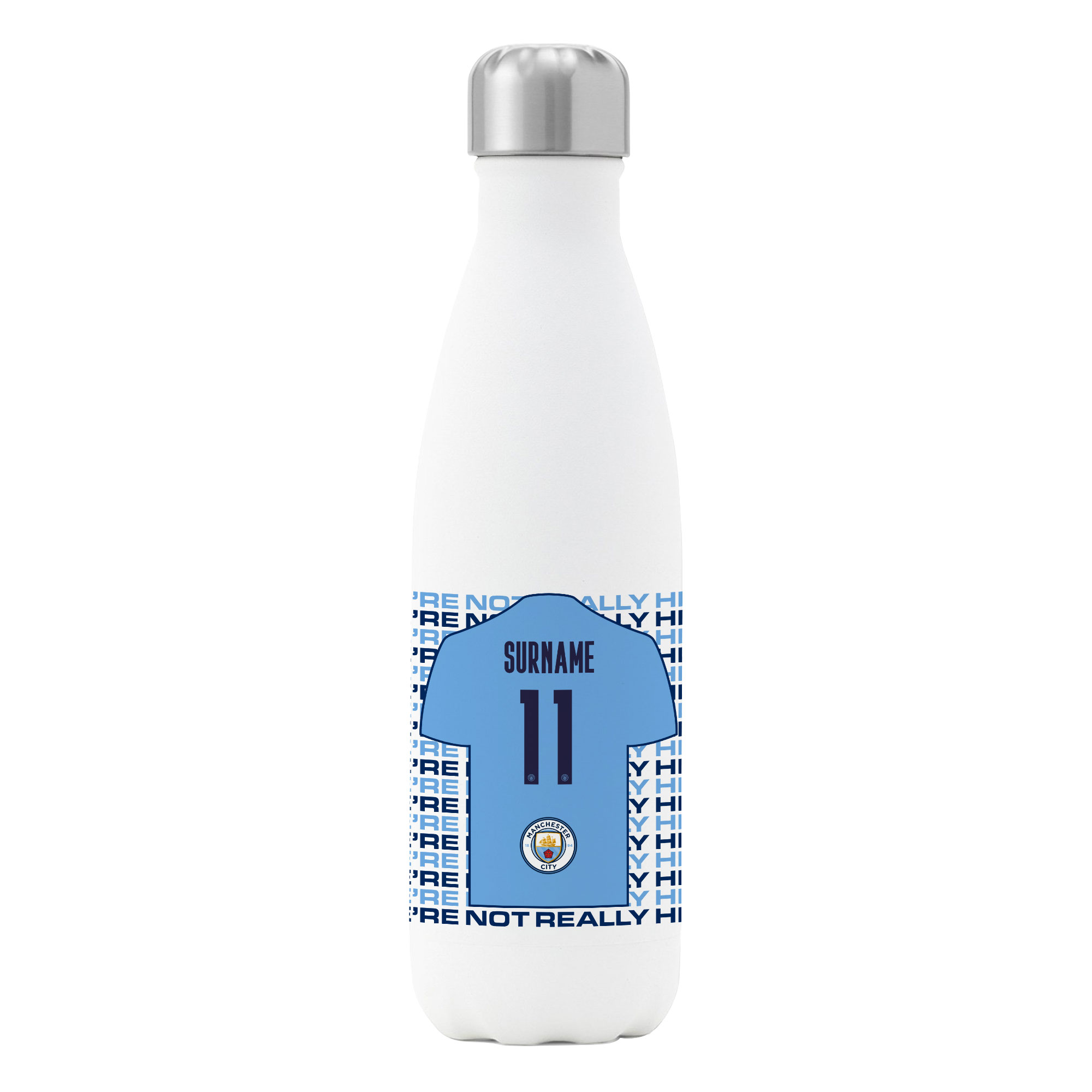 Manchester City FC We're Not Really Here Insulated Water Bottle