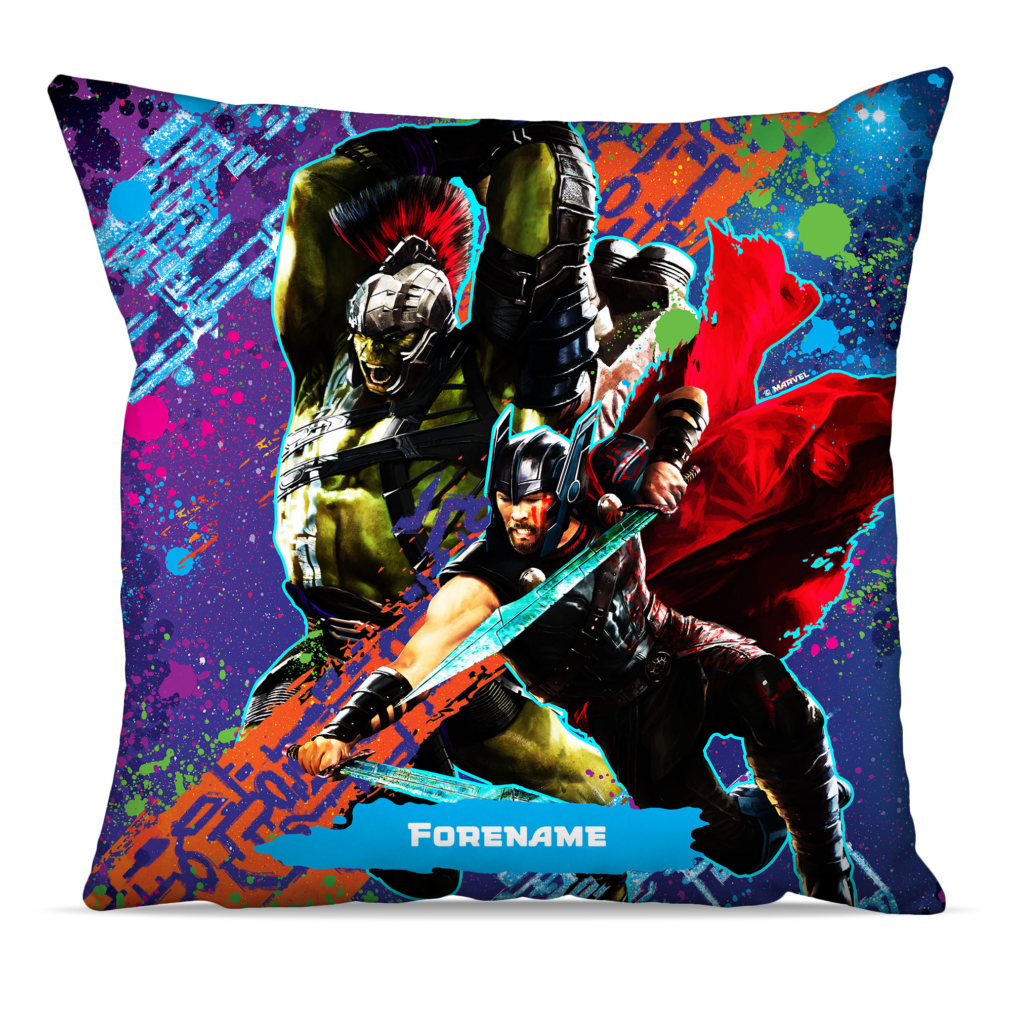 Marvel Thor Ragnarok Colour Splash Cushion