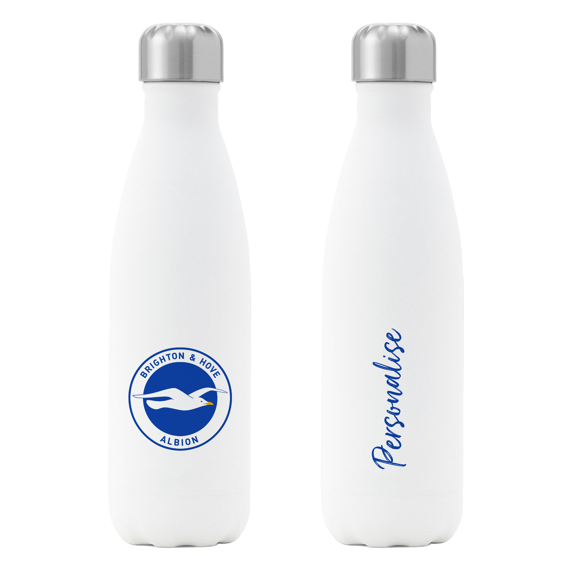 Brighton & Hove Albion FC Crest Insulated Water Bottle - White