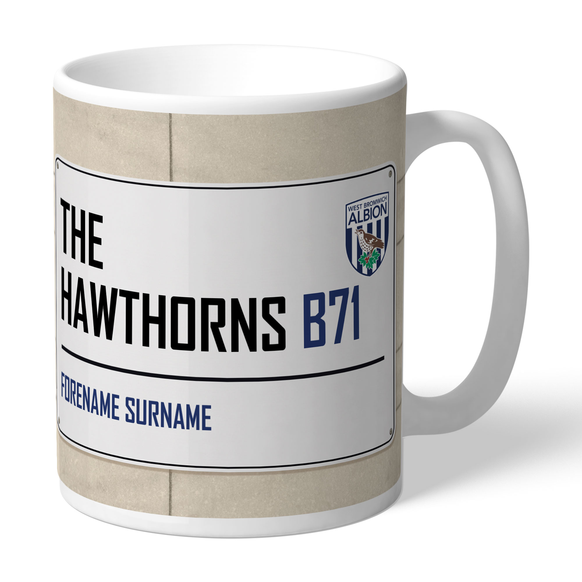 West Bromwich Albion FC Street Sign Mug