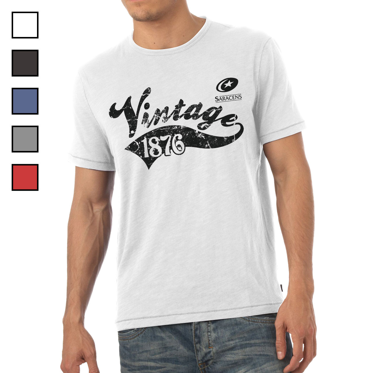 Saracens Mens Vintage T-Shirt