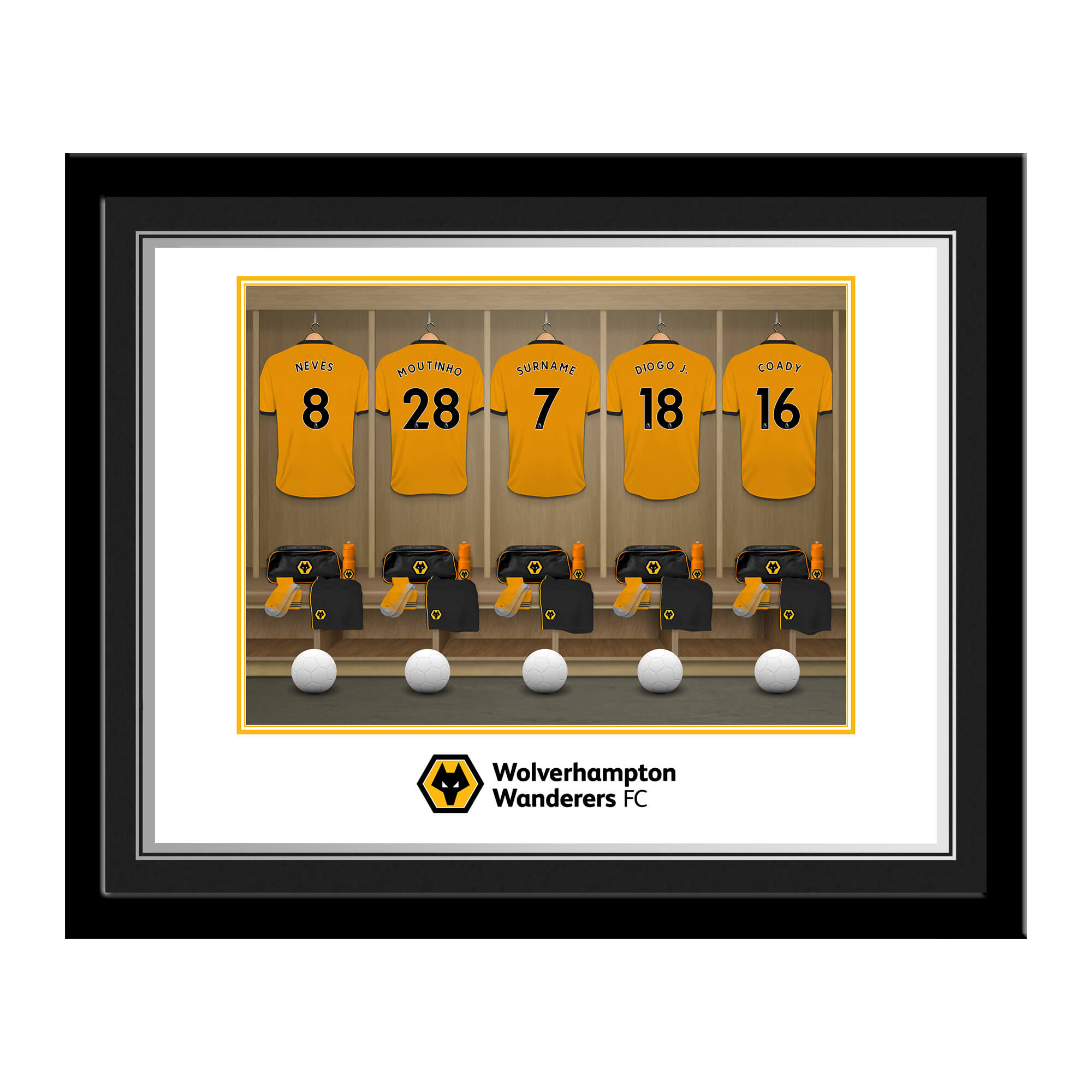 Wolves Dressing Room Photo Framed
