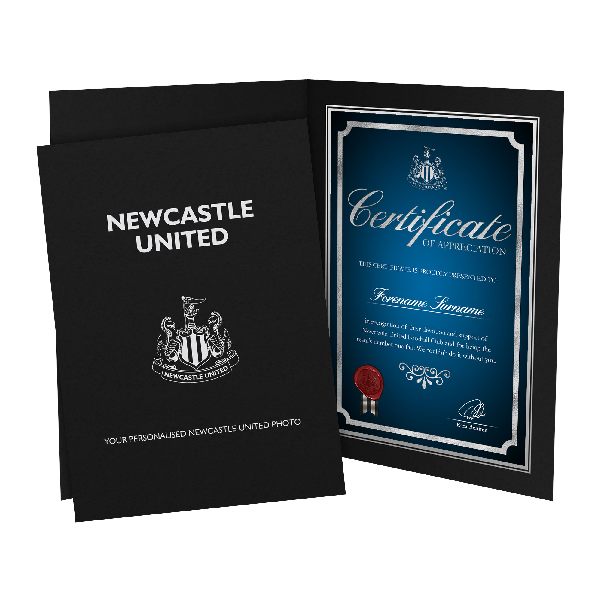 Newcastle United FC No1 Fan Certificate Folder