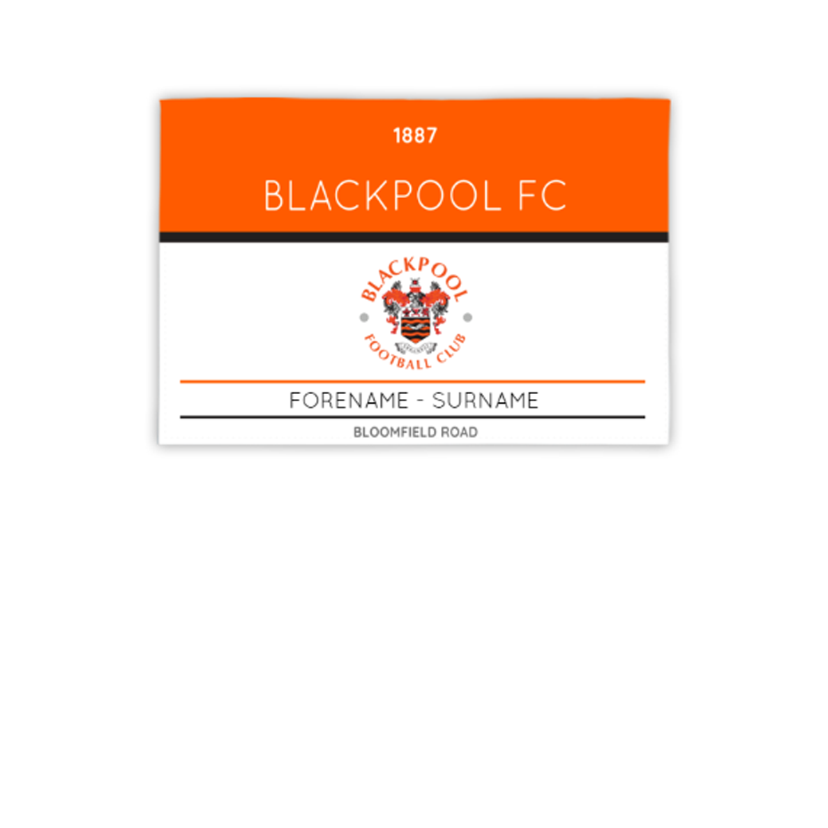 Blackpool Minimal Ticket 3ft x 2ft Banner