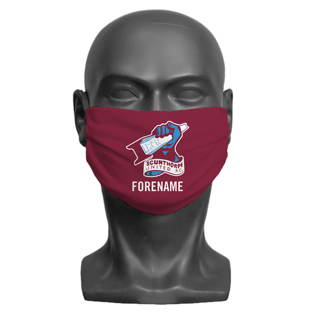Scunthorpe United FC Crest Adult Face Mask (Large)