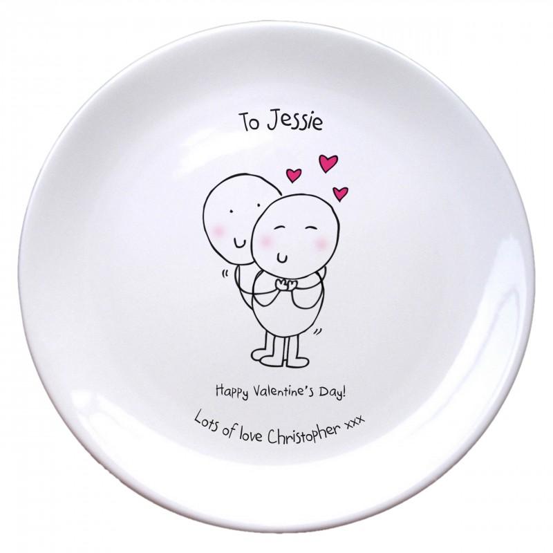 Chilli & Bubble's Valentines Plate