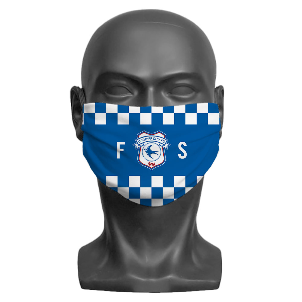 Cardiff City FC Initials Adult Face Mask (Large)