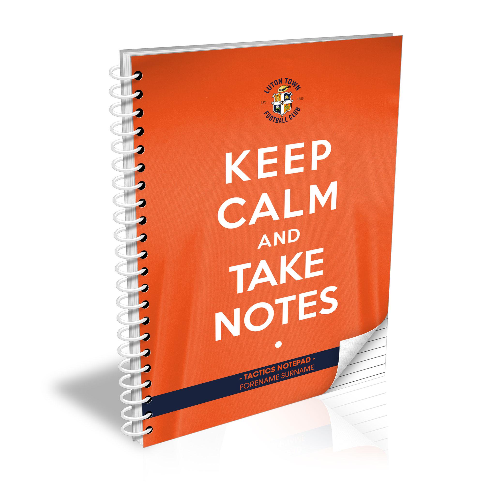 Luton Town FC Keep Calm Notebook