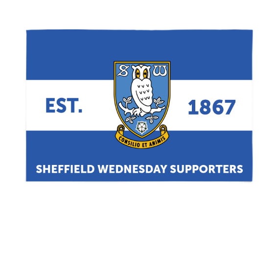 Sheffield Wednesday FC Supporters 6ft x 4ft Banner