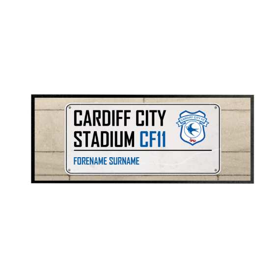 Cardiff City FC Street Sign Regular Bar Runner