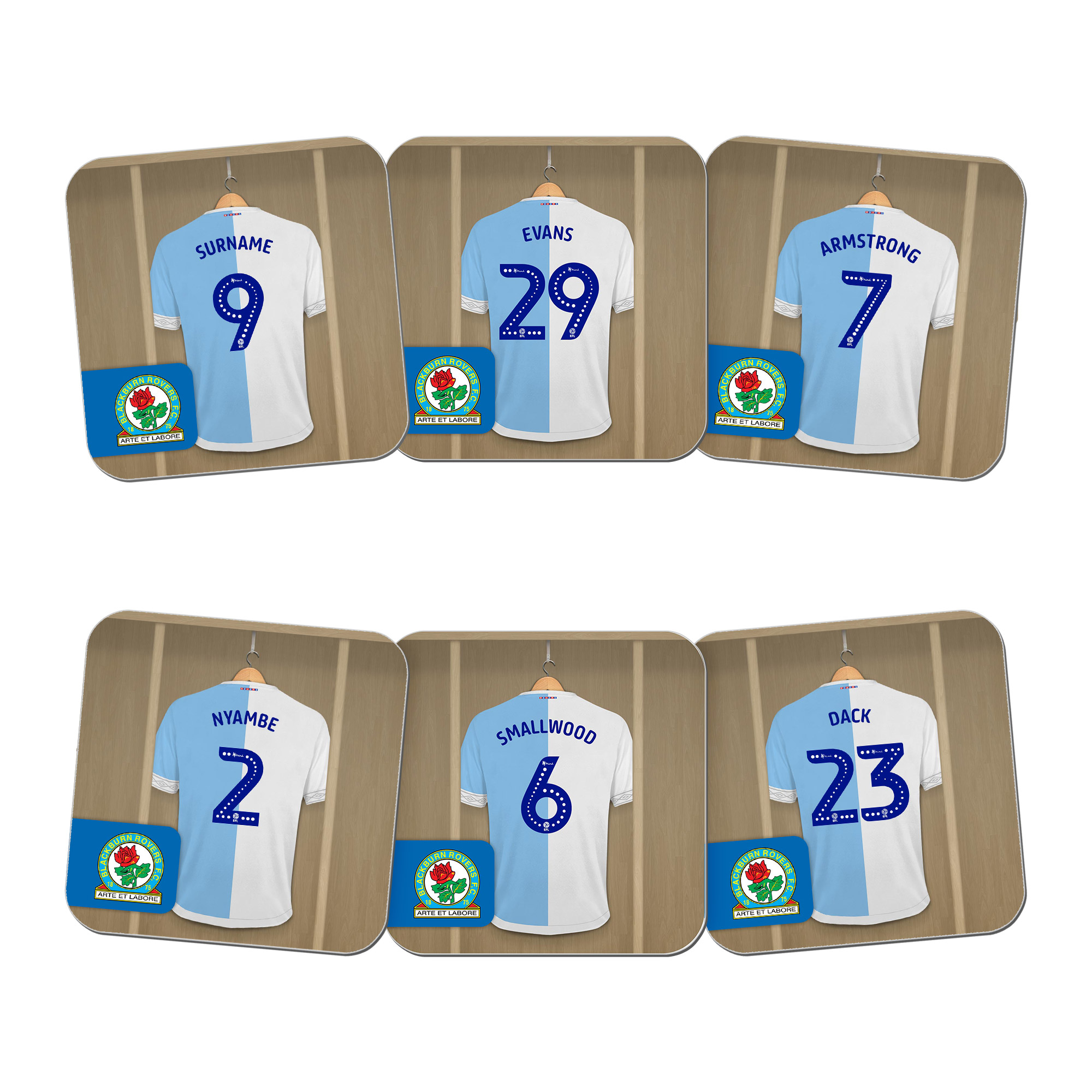 Blackburn Rovers FC Dressing Room Coasters