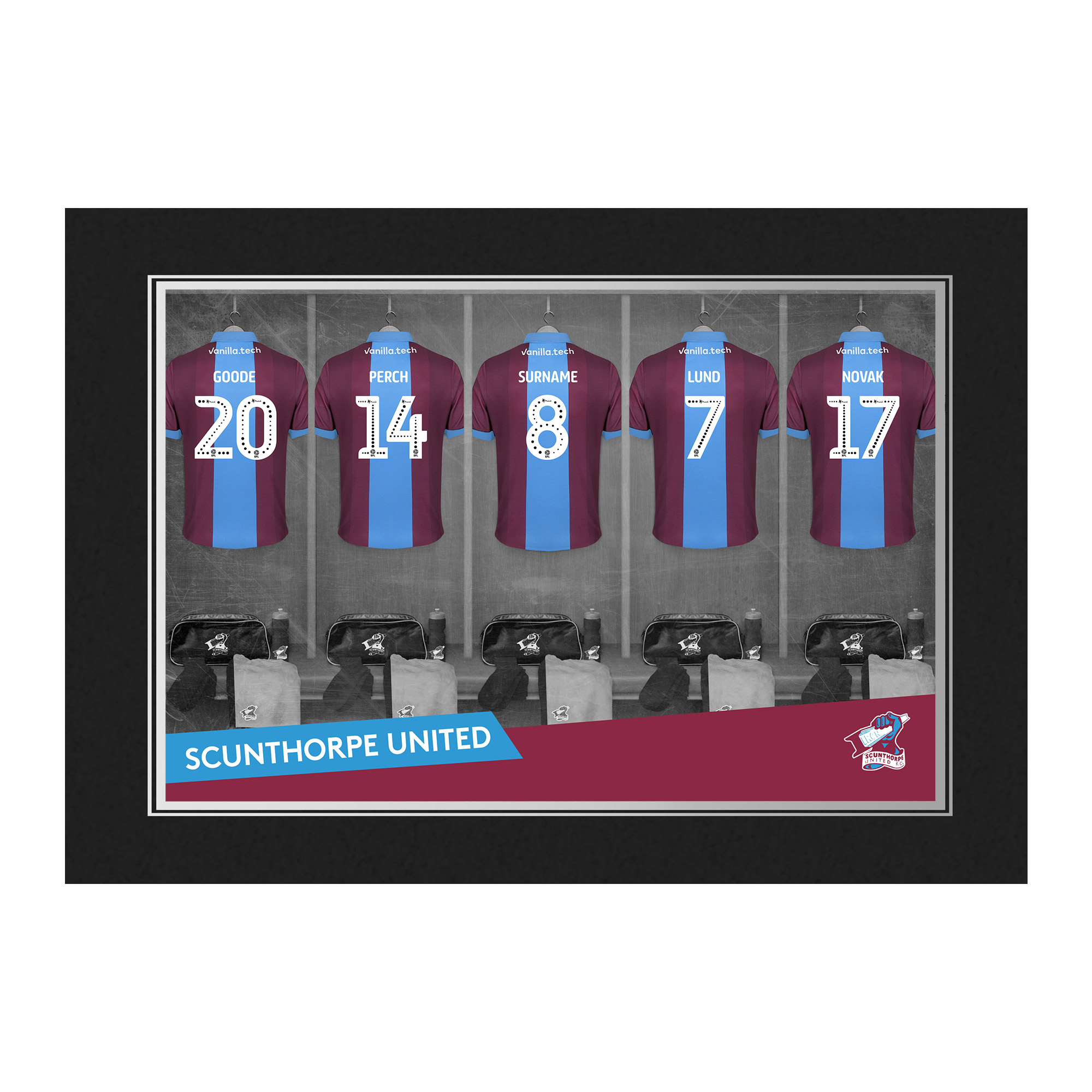 Scunthorpe United FC 9x6 Dressing Room Photo Folder