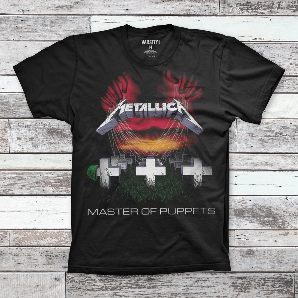 Mens T-Shirt Metallica Master Of Puppets