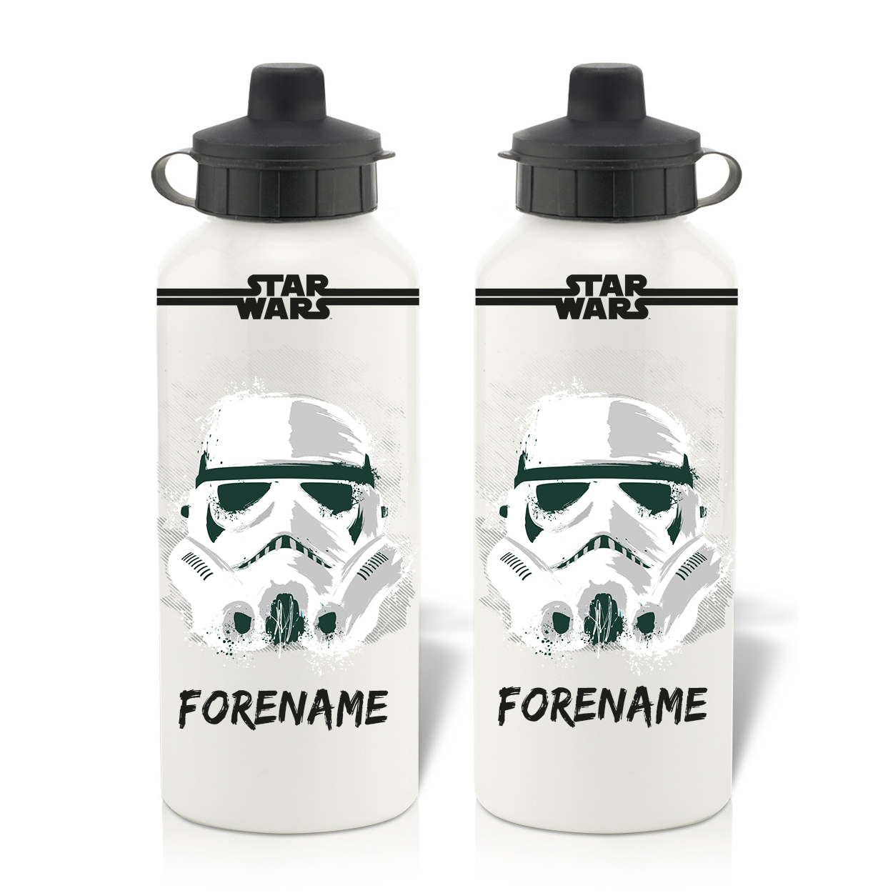 Star Wars Storm Trooper Paint  Aluminium Water Bottle