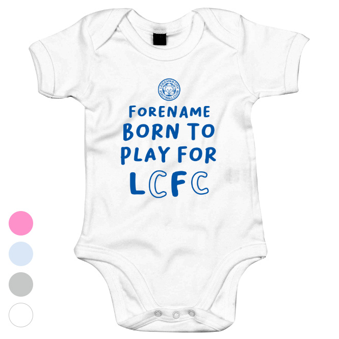Leicester City FC Born to Play Baby Bodysuit