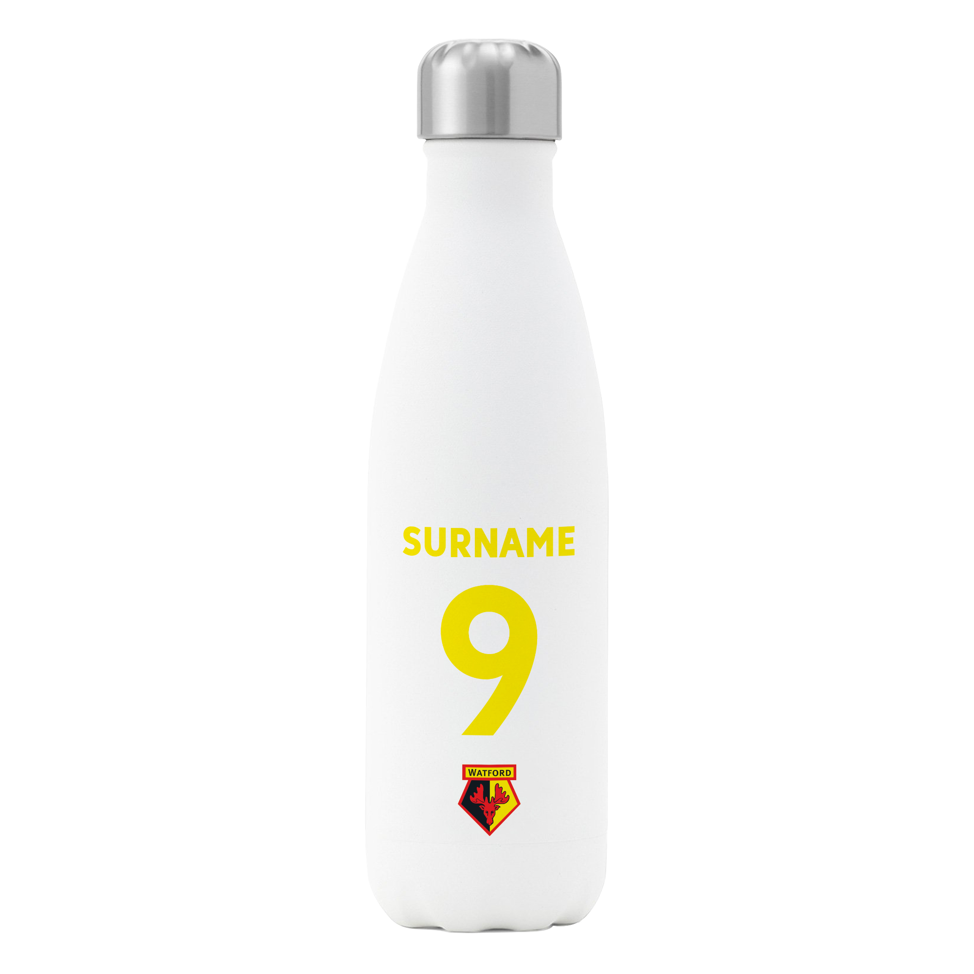 Watford FC Back of Shirt Insulated Water Bottle - White