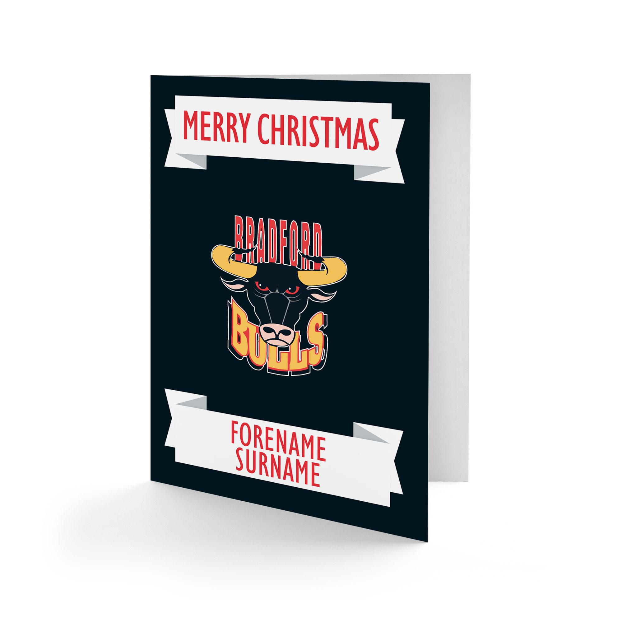 Bradford Bulls Crest Christmas Card