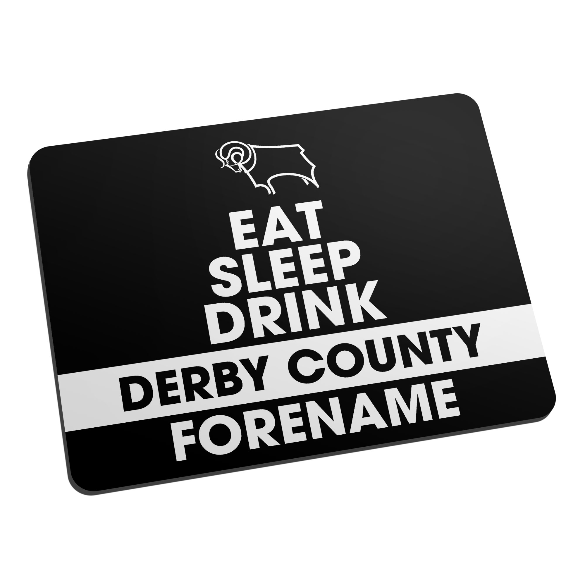 Derby County Eat Sleep Drink Mouse Mat