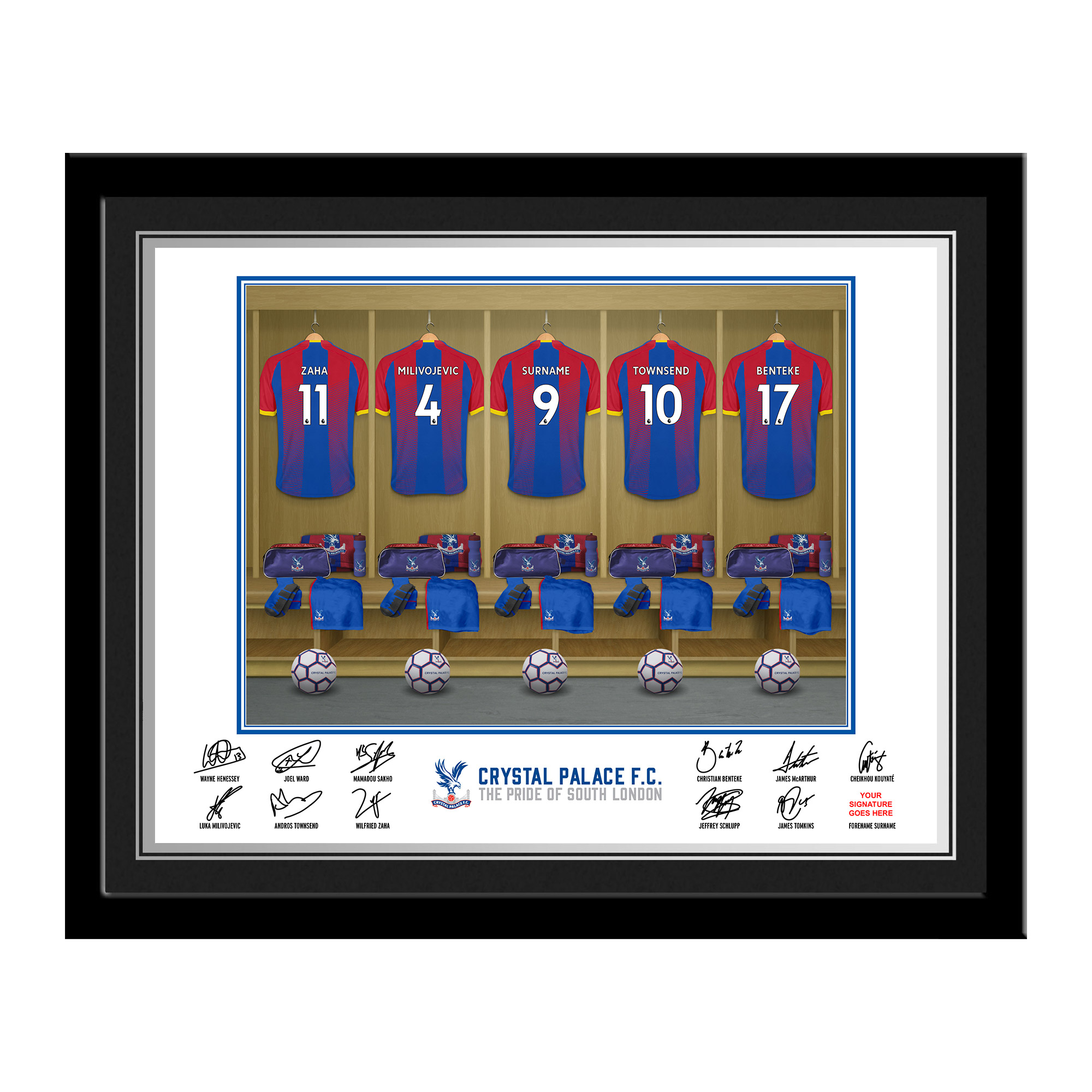 Crystal Palace FC Dressing Room Photo Framed