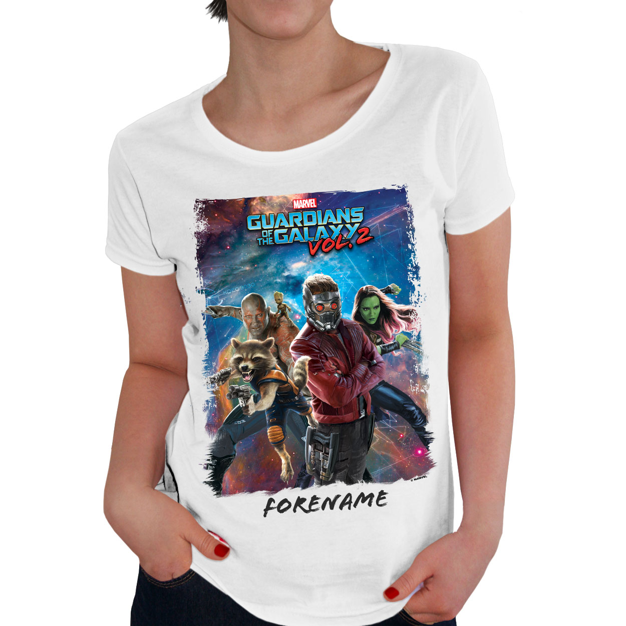 Marvel Guardians of the Galaxy Group Ladies T-Shirt