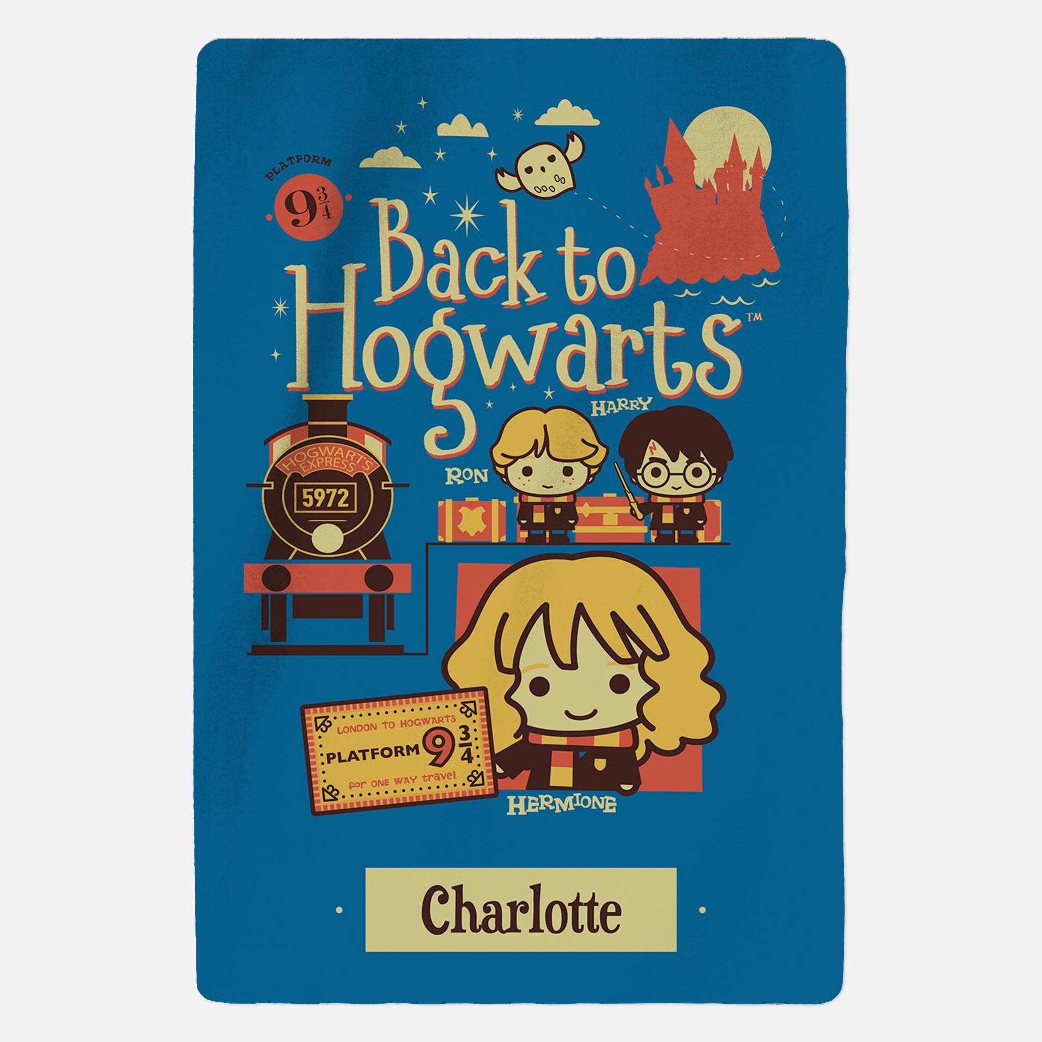 Harry Potter™ Personalised Blanket - Back To Hogwarts