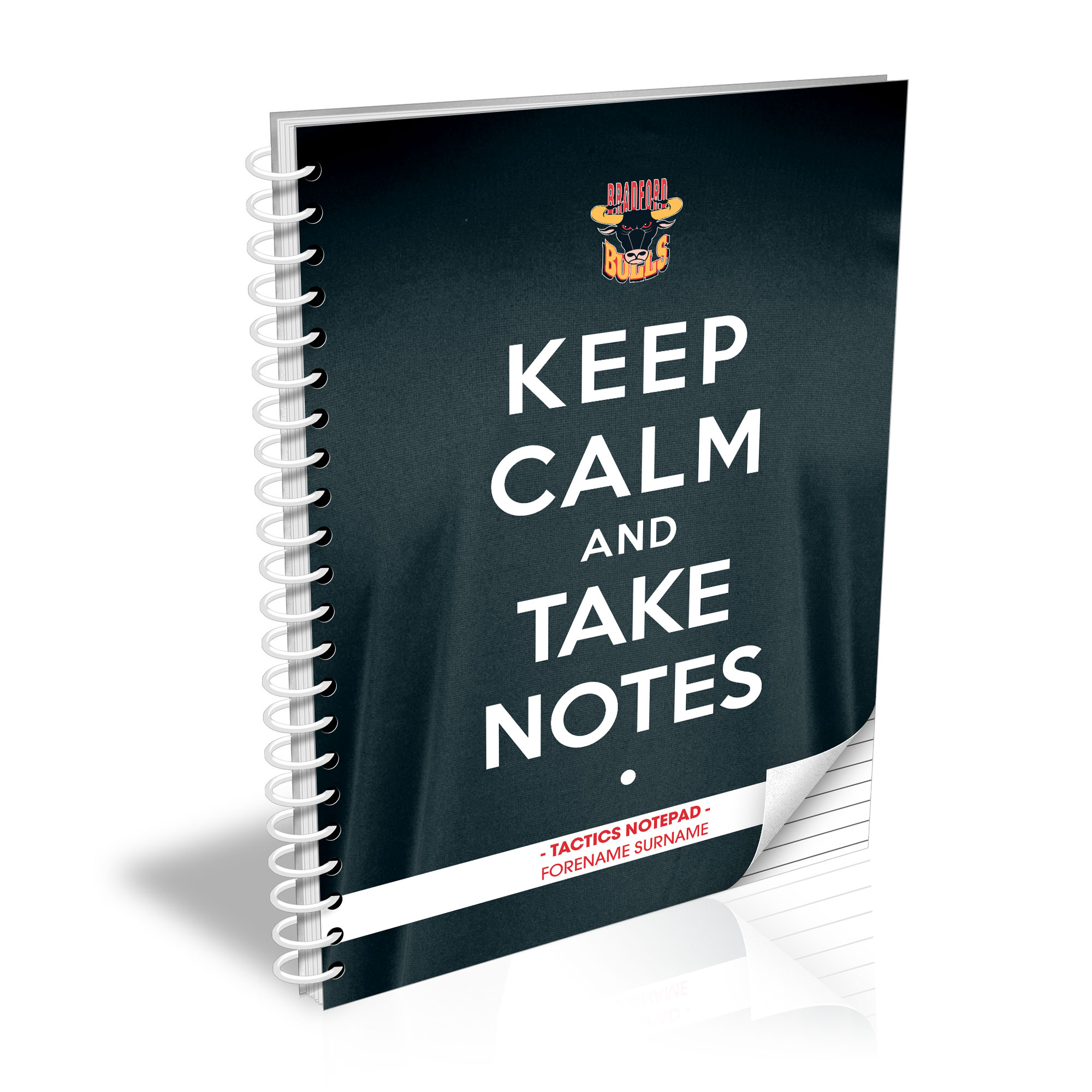 Bradford Bulls Keep Calm Notebook