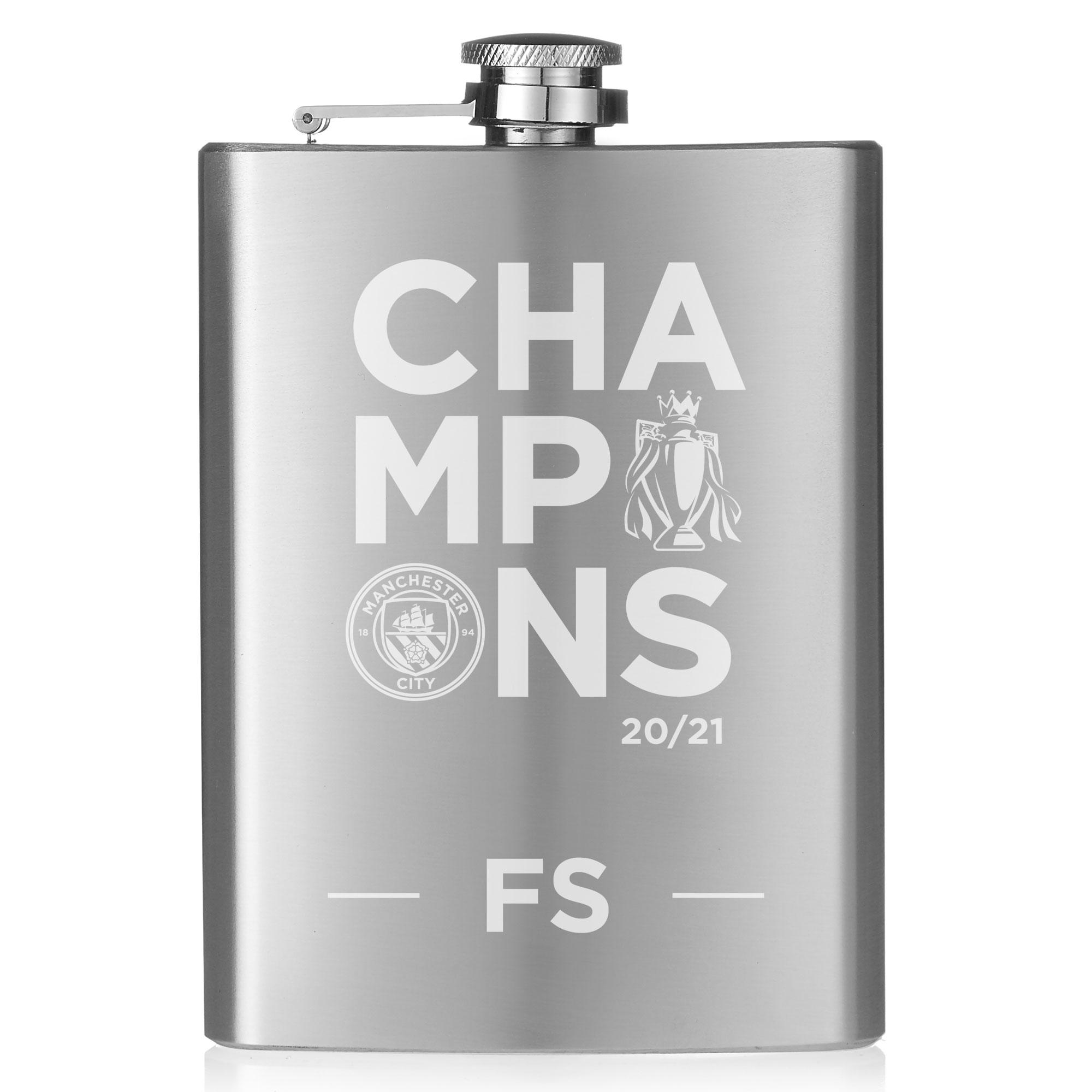 Manchester City FC Premier League Champions 2021 Hip Flask