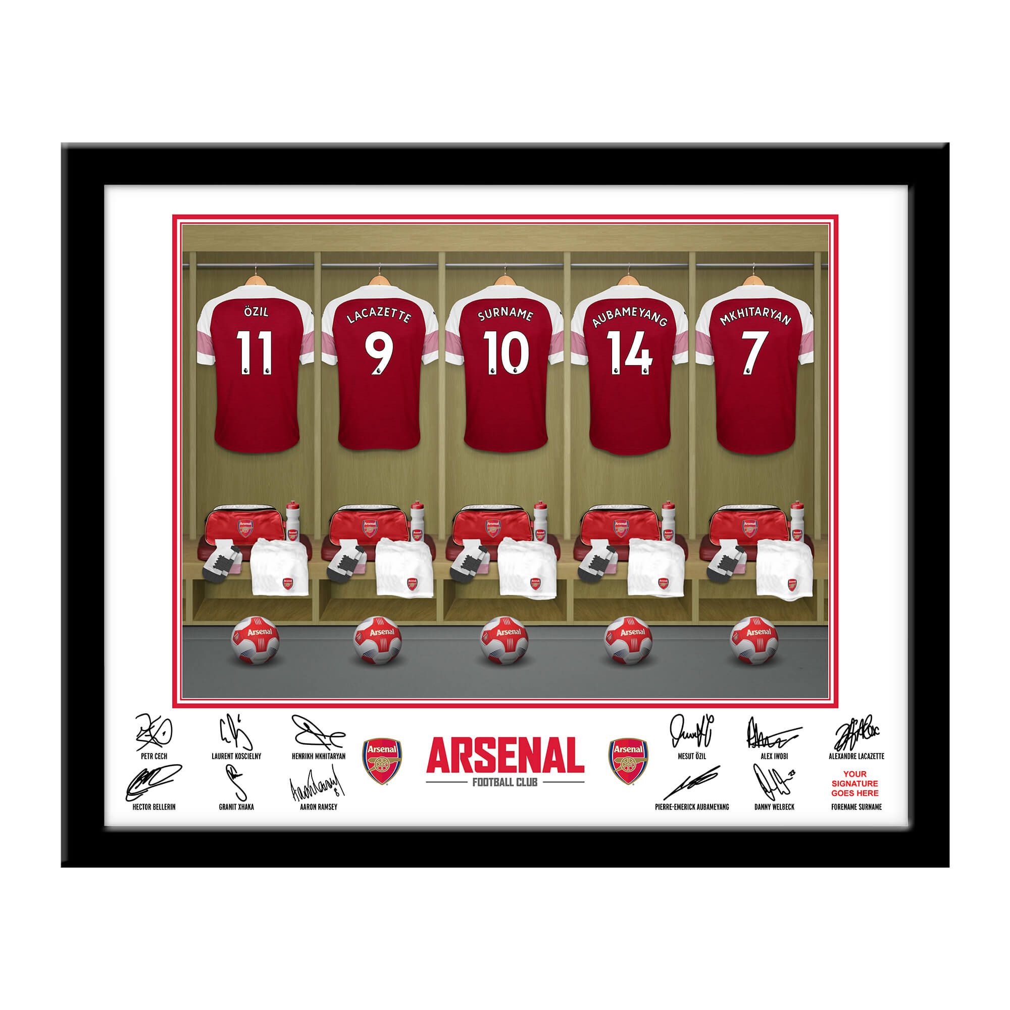 Arsenal FC Dressing Room Framed Print