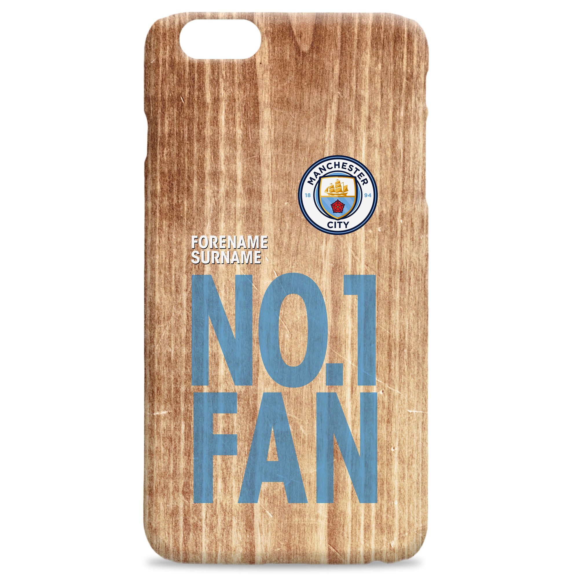 Manchester City FC No 1 Fan Hard Back Phone Case