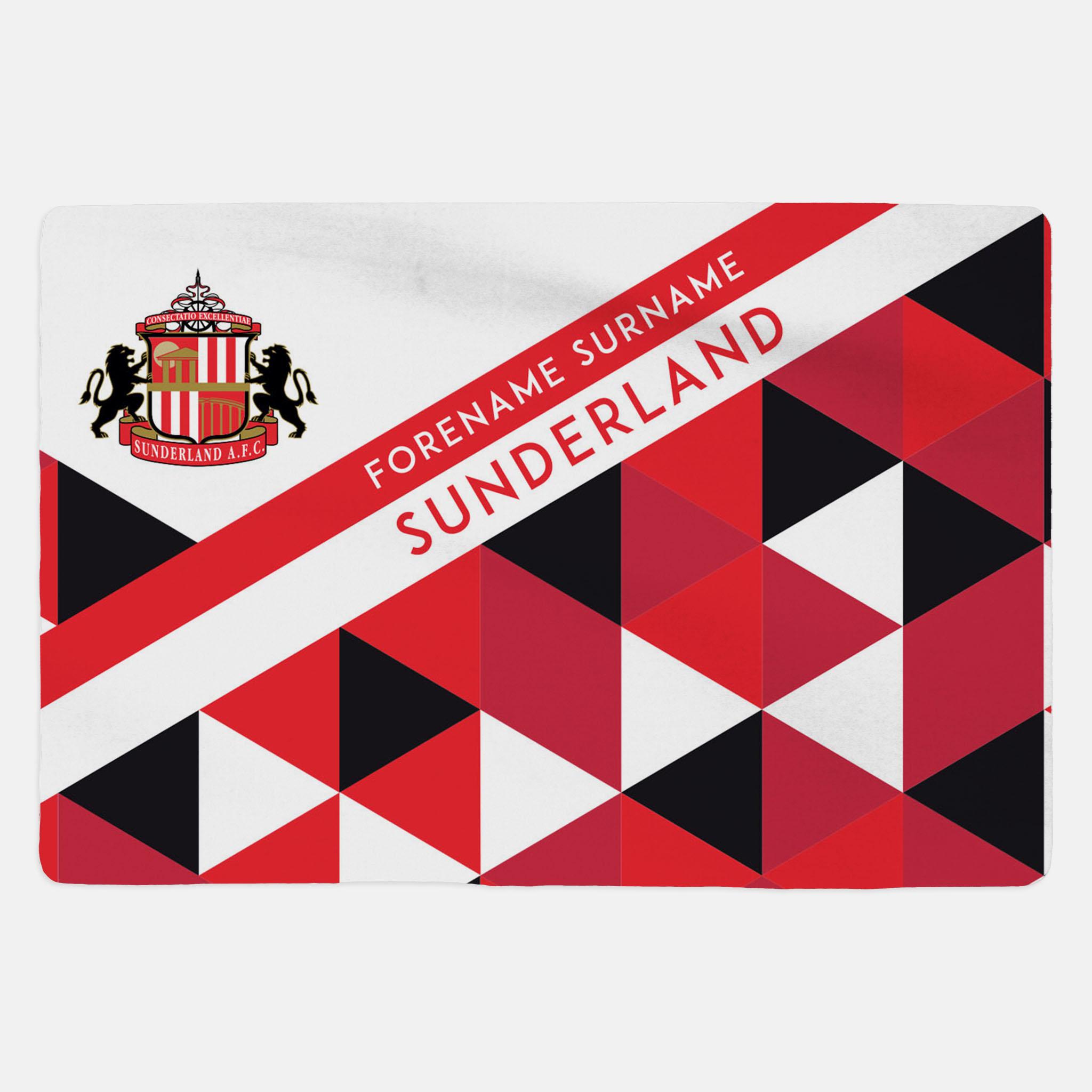 Sunderland AFC - Geometric - Sherpa Fleece Blanket